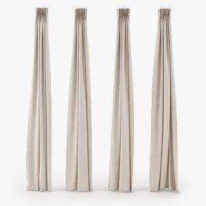 3d model kind modern curtains