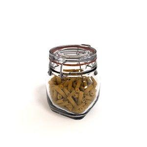 x glass jar pasta