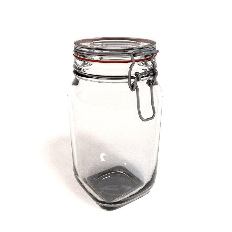 3d glass jar