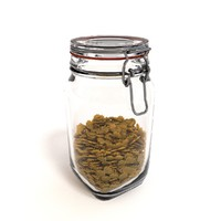 obj glass jar pasta
