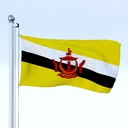brunei flag 3D models