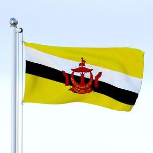 flag pole 3d obj