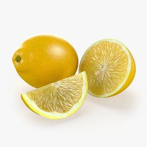 lemon fruit 3d max