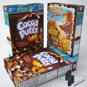 cocoa puffs 3d model