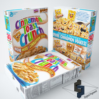 3d cinnamon toast crunch model