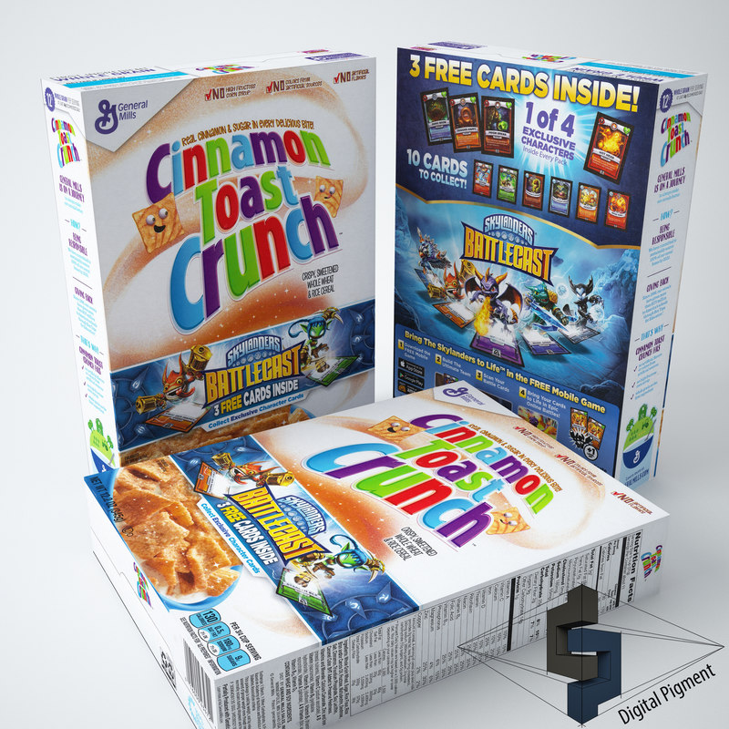 3d model of cinnamon toast crunch