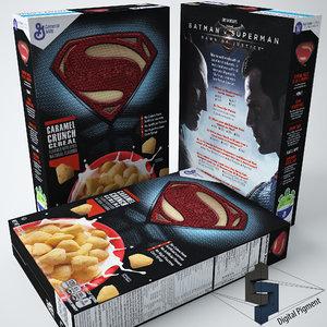 superman cereal box max