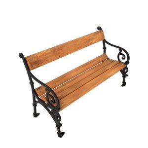 3d bench subdivision metalic