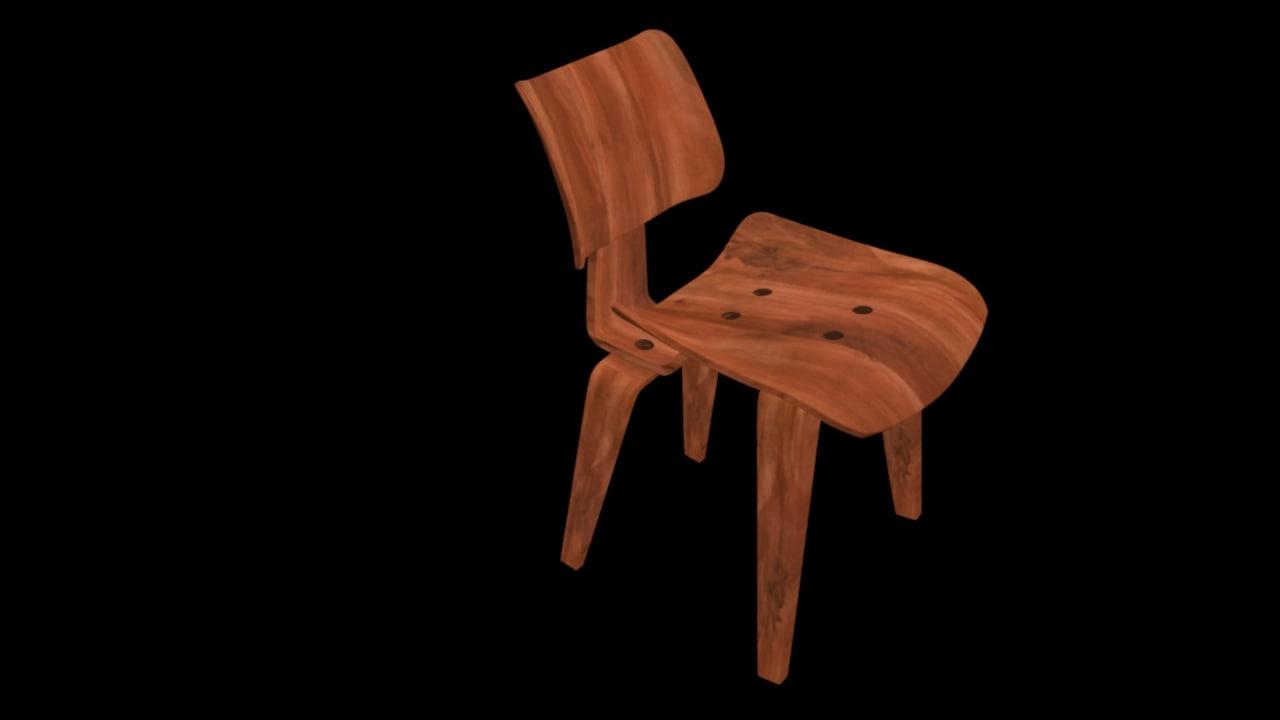 3d lcw chair model