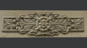 obj classic wall bas relief