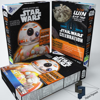 3d model star wars cereal box