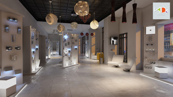 3d model electric showroom