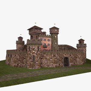 medieval castle italian 3d model