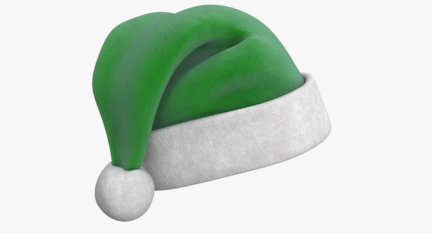 christmas hat 2 3d model