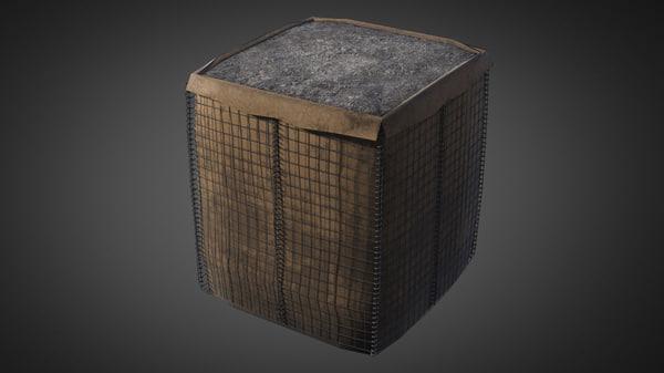 3d model military hasco bags