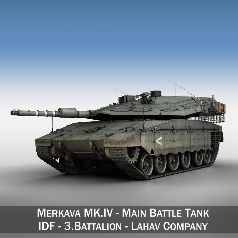 merkava iv - battle tank 3d c4d