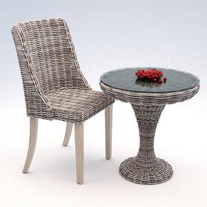 3d model rattan furniture