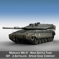 merkava iv - battle tank 3d 3ds