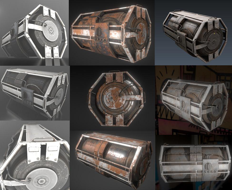 futuristic backup generator pack 3ds