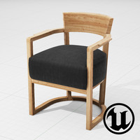 3ds unreal flexform barchetta chair