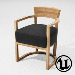 3ds unreal flexform barchetta chair