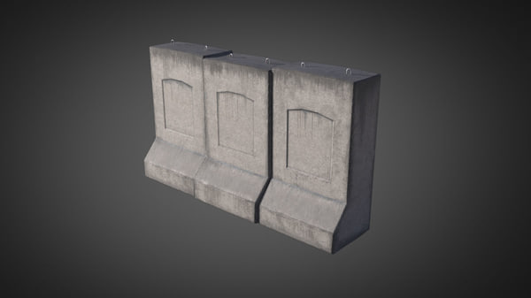 3d max concrete wall military