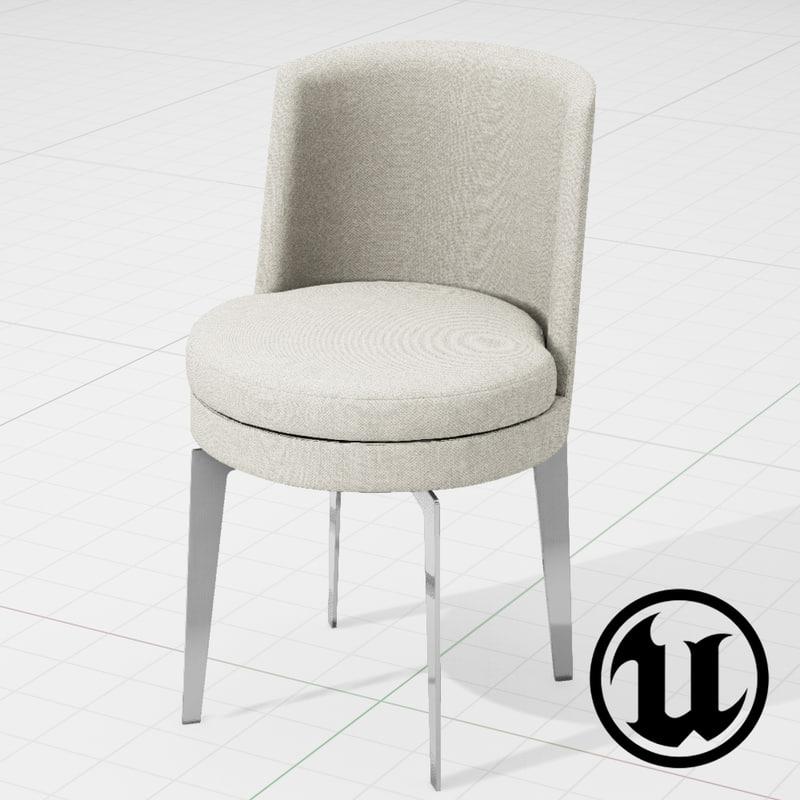 unreal flexform feelgood chair 3d 3ds