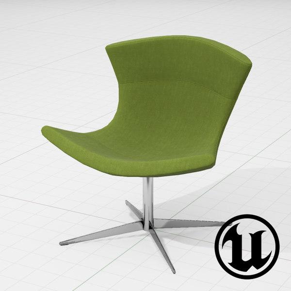3d unreal halle jet chair model