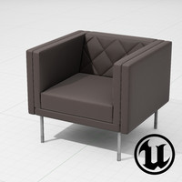 3d unreal halle harlequin chair
