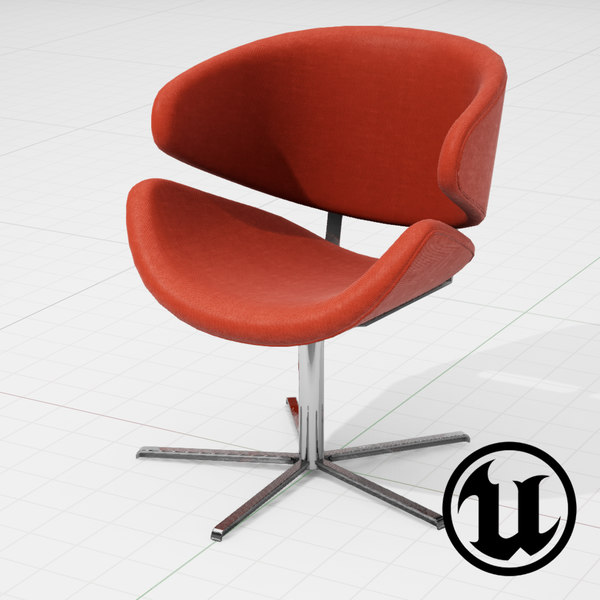 unreal halle jive chair 3d model