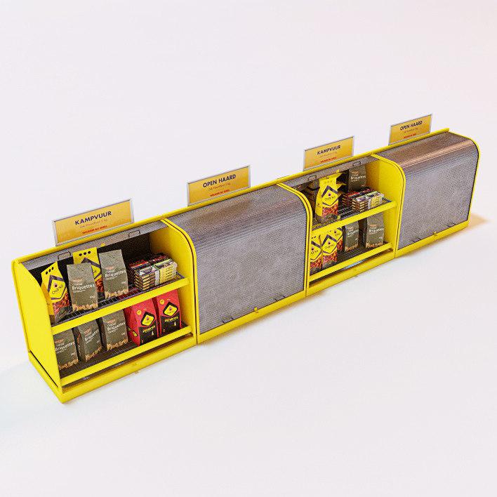 braai charcoal firelighters storage 3d c4d