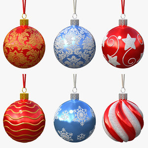 set christmas ball obj