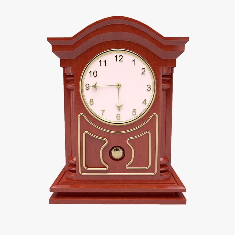 3d model mechanical table clock