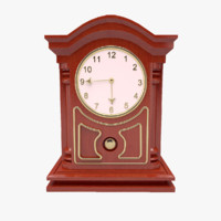 3d model mechanical table clock
