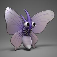 venomoth pokemon 3d fbx