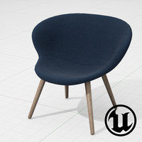 unreal halle capri chair 3d 3ds