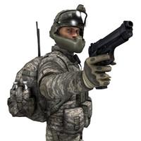 Modern US Soldier