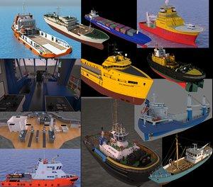 11 ships various 3d max