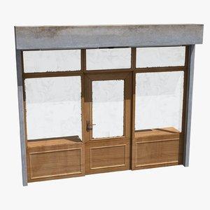 3d model shop facade