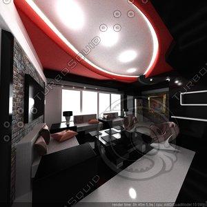 free 3ds mode modern interior