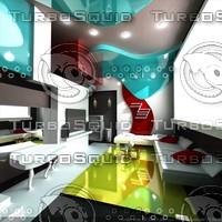 3d model modern interior