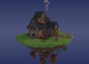 scene house island 3d 3ds