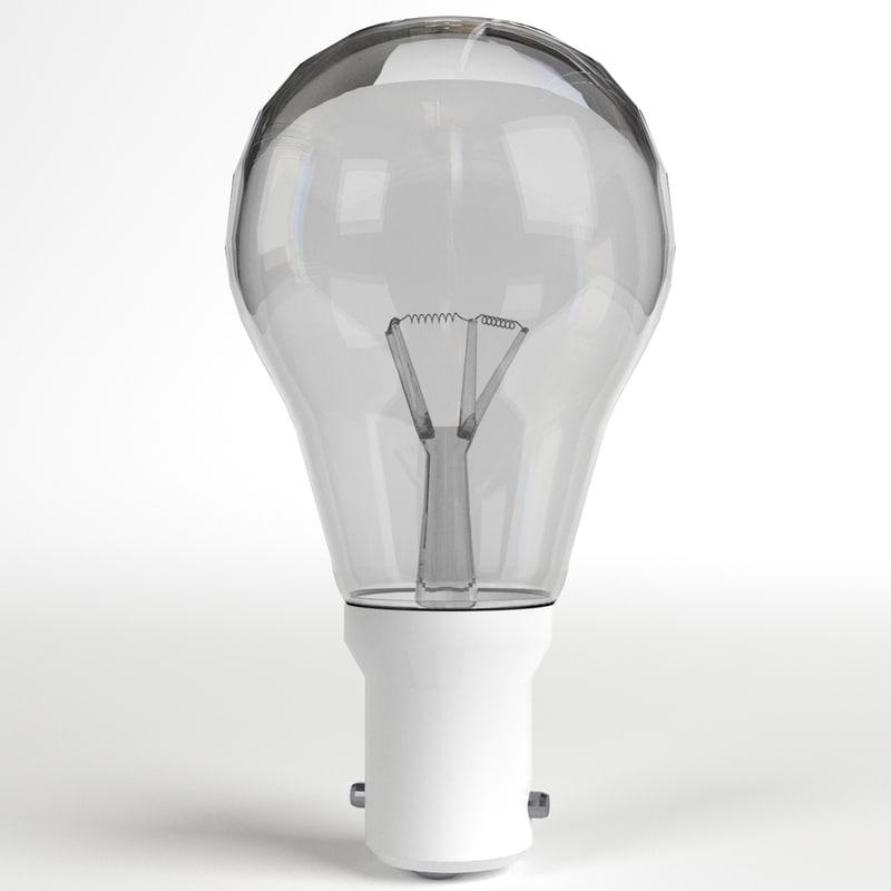 incandescent light bulb lamp 3d 3ds
