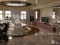 3d model living room interior
