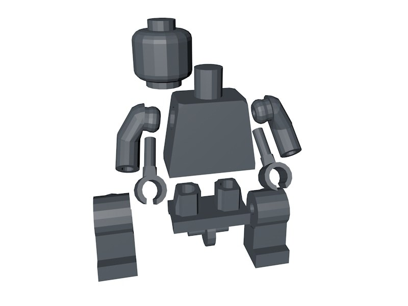 3d lego mini-figure base