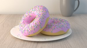 donut icings sprinkles 3ds