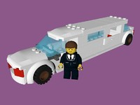 lego limo 3d model