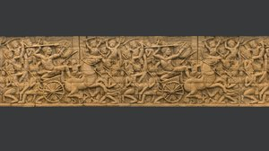 asian bas-relief scan 3d obj