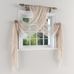 curtains decoration windows 3d model