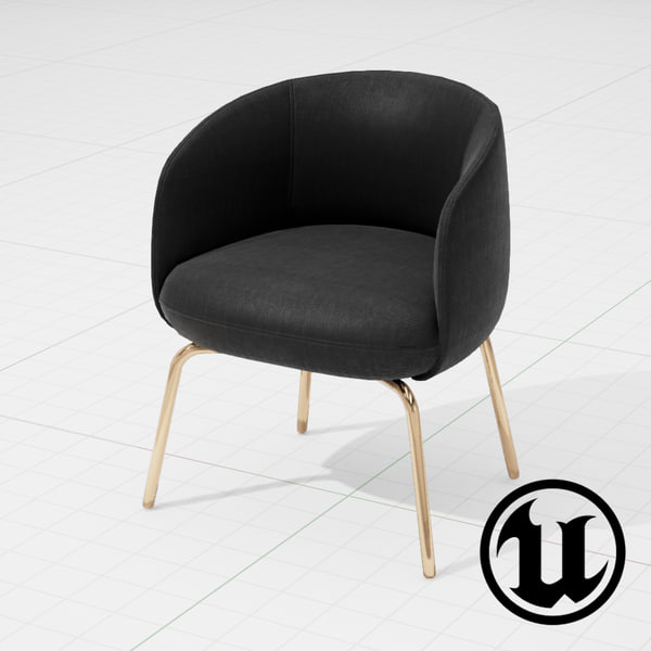 unreal halle nest chair 3d x